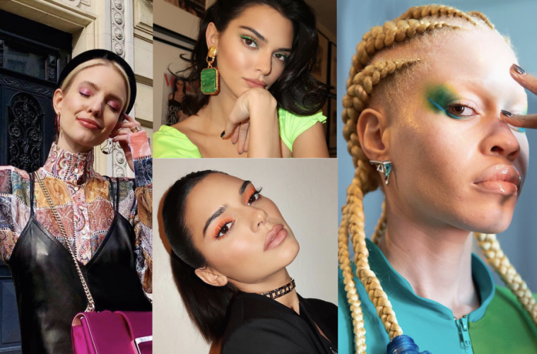 Influencers maquillades amb tonalitats neó