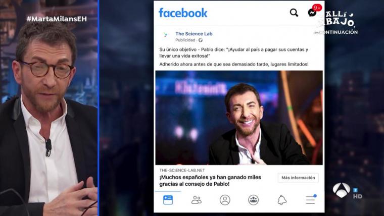 Pablo Motos alerta d'una estafa publicitària a Facebook