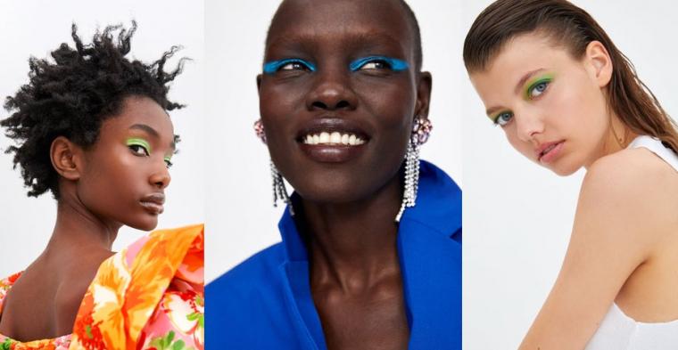 Zara ha incorporat els nous maquillatges en les seves promocions