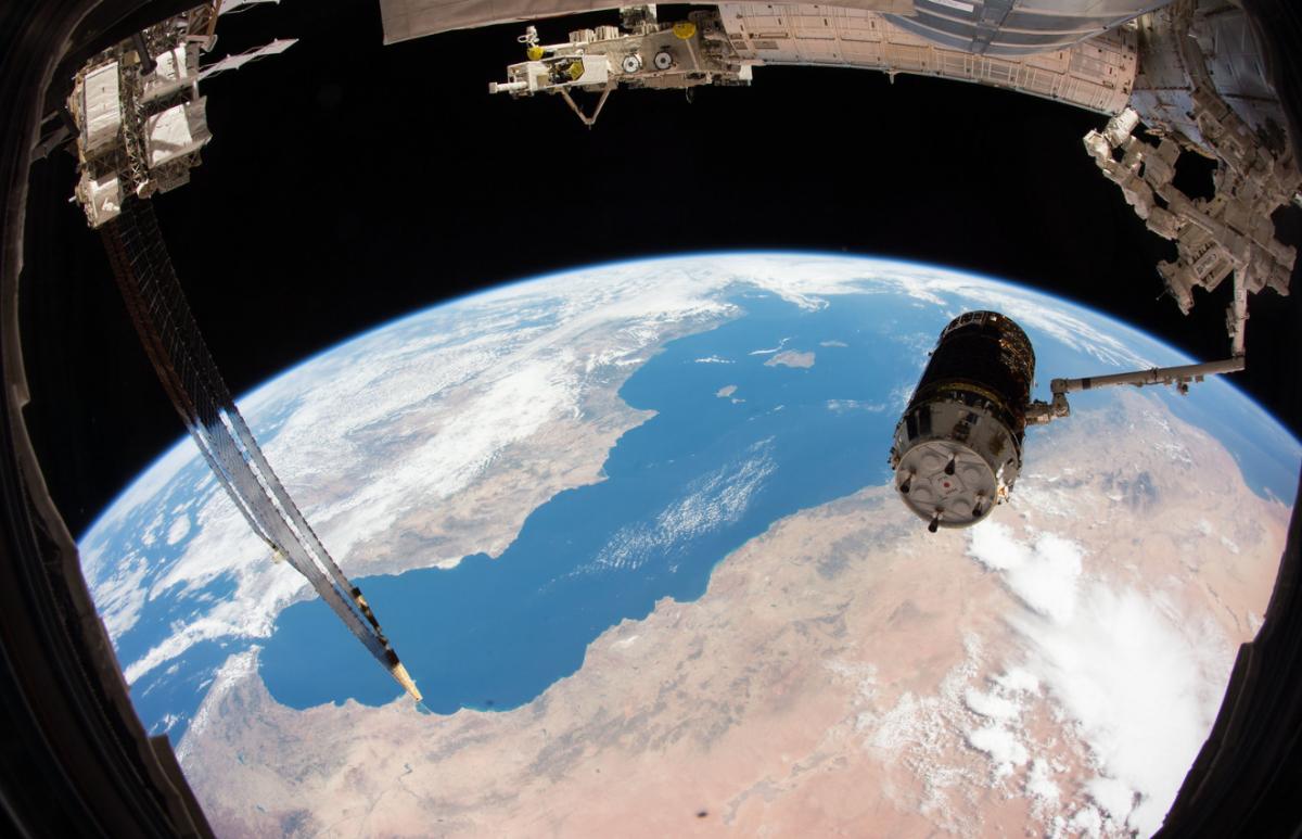 Imatge de la península Ibèrica vista des de l'espai