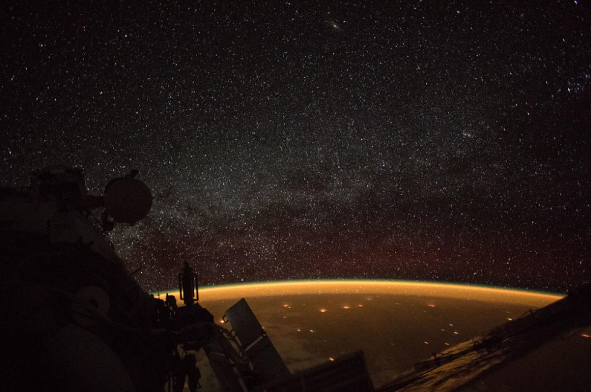 Imatge de la via làctia vista des l'Estació Espacial Internacional
