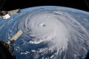 Imatge de l'huracà Florence vist des de l'espai