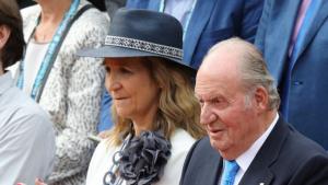 La Infanta Helena y el Rei Joan Carles van presenciar la victòria de Rafa Nadal al Roland Garros