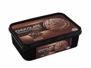 La terrina de gelat amb sabor a xocolata