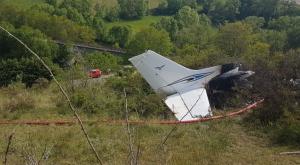 L'avioneta, de matrícula francesa, es va estabellar ahir a l'Alta Cerdanya