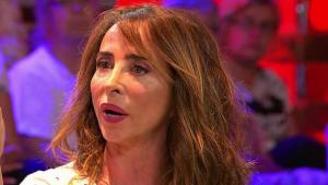 María Patiño, lluïnt un nou tall de cabell a 'Sálvame'