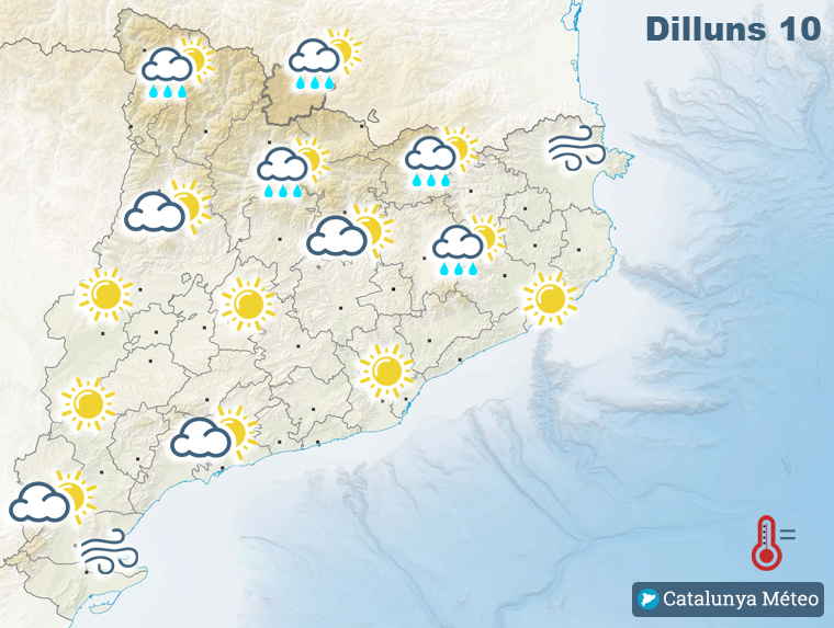 Mapa de previsió per aquest dilluns