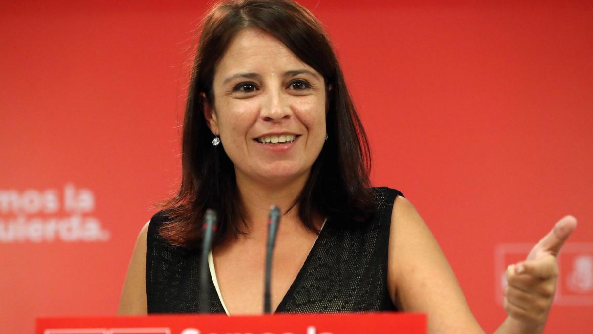 La número dos del PSOE, Adriana Lastra critica l'actitud irresponsable de Podem