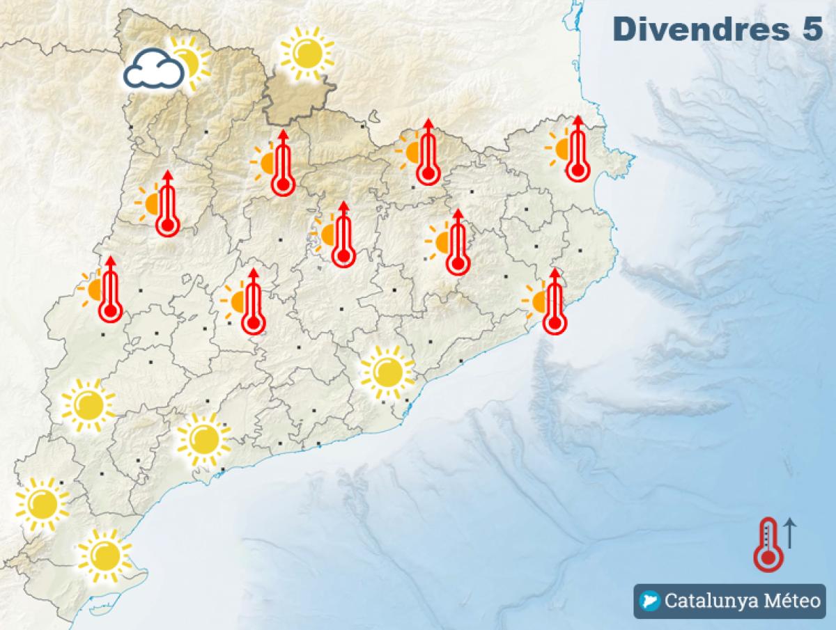 Mapa de previsió per aquest divendres