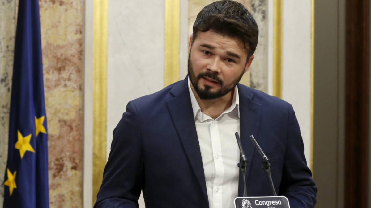 Rufián es decanta per «no bloquejar» la investidura de Sánchez