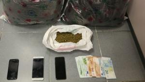 Detenen quatre persones per portar 7,7 kg de marihuana al cotxe a Vilanova del Camí
