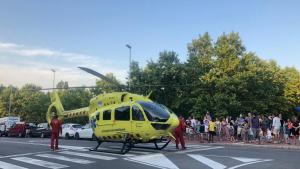 La dona va patir una aturada cardiorespiratòria i va ser traslladada amb helicòpter a l'hospital