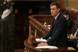 Pedro Sánchez al debat d'investidura