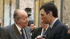 Pedro Sánchez ha visitat el rei emèrit Joan Carles I a l'hospital, on es recupera després de la seva operació coronària
