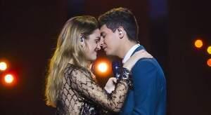 Alfred i Amaia en un assaig de la cançó que van representar a Eurovisió l'any 2018