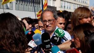 El TSJC notifica el requeriment a Torra perquè retiri la pancarta dels presos de la Generalitat