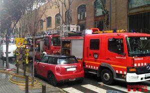 En l'extinció de l'incendi han treballat set dotacions dels Bombers de la Generalitat