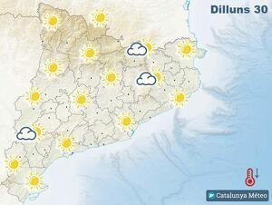 Mapa de la previsió per a aquest dilluns