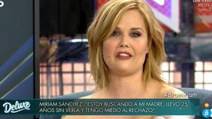 Miriam Sánchez va tornar a aparèixer davant les càmeres després de quatre anys