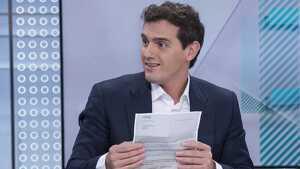 Albert Rivera critica TVE en directe per ser «TeleSánchez»