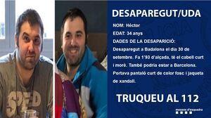 Héctor va desaparèixer el dia 30 de setembre