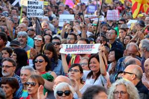 Imatge de la manifestació d'aquesta tarda a Barcelona