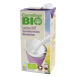 La nova llet porta l'etiqueta de Carrefour Bio, és semidesnatada i no conté lactosa