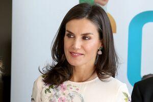 La reina Letícia torna a repetir vestit