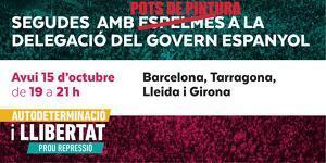 Mobilitzacions d'ANC davant les delegacions del Govern espanyol