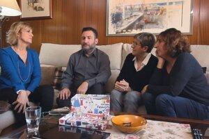 Toni Soler i les seves germanes al programa 'Els meus pares'