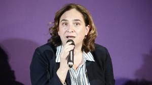 Ada Colau, en un acte electoral d'En Comú Podem a Girona el 5 de novembre de 2019