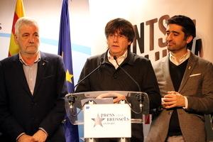 Carles Puigdemont valorant els resultats de les eleccions