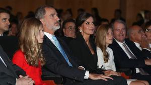 La família reial durant la seva visita a Catalunya pel Premis Princesa de Girona