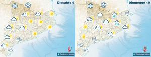 Mapes de previsió per aquest cap de setmana