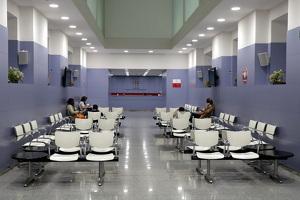 Una de les sales d'espera de l'Hospital de Nens de Barcelona, el 6 de novembre de 2019