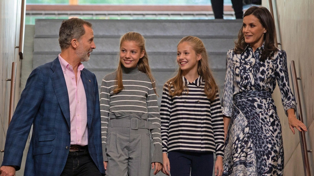 La família reial a Barcelona amb motiu dels premis Princesa de Girona
