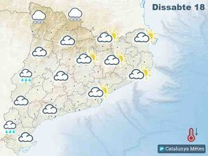 Mapa de previsió pel dissabte