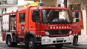 Un camió dels Bombers de la Generalitat