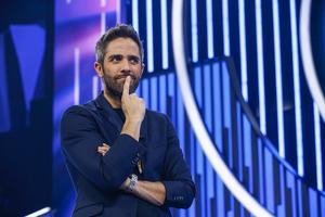 El presentador Roberto Leal, durante un programa de 'OT'