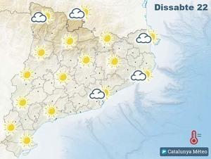 Mapa de previsió a Catalunya el 22 de febrer del 2020