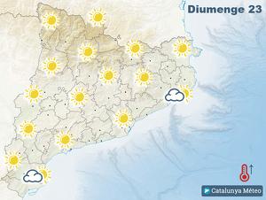 Mapa de previsió de símbols del Catalunya Diari