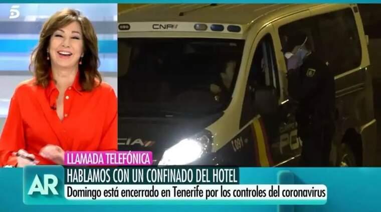 Imatge d'Ana Rosa Quintana en el seu programa el 26 de febrer del 2020