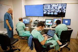 Metges de Tel Aviv treballant contra el coronavirus el 20 de març de 2020