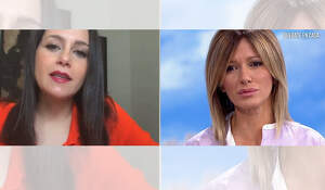 Susanna Griso i la líder de C's, Inés Arrimadas, durant una entrevista a 'Espejo Público'