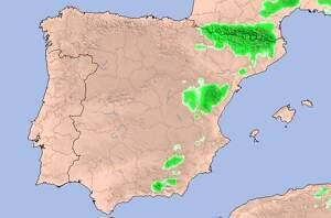 Mapa de la neu prevista a la península Ibèrica els dies 25 i 26 de març del 2020