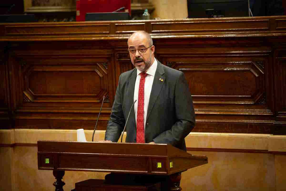 Conseller d'Interior, Miquel Buch, al Parlament, 1 de juliol de 2020