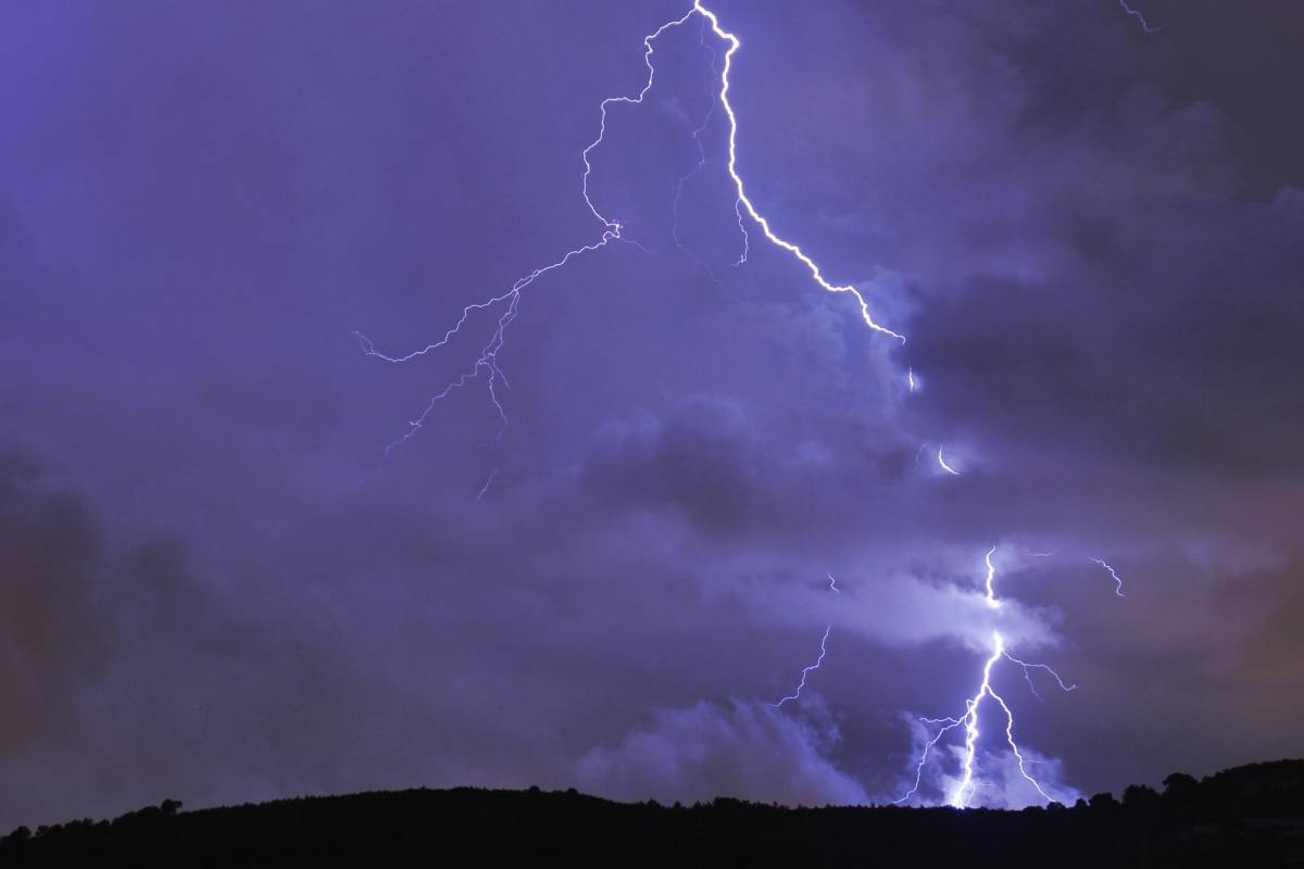 Imatge d'un llamp caient a l'Alt Penedès