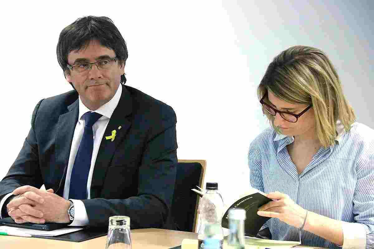 Carles Puigdemont i Elsa Artadi.