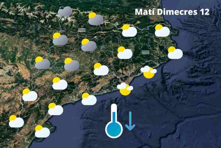 Millora el temps, però no fa net del tot a diversos punts: Previsió a Catalunya dimecres 12 de maig del 2021