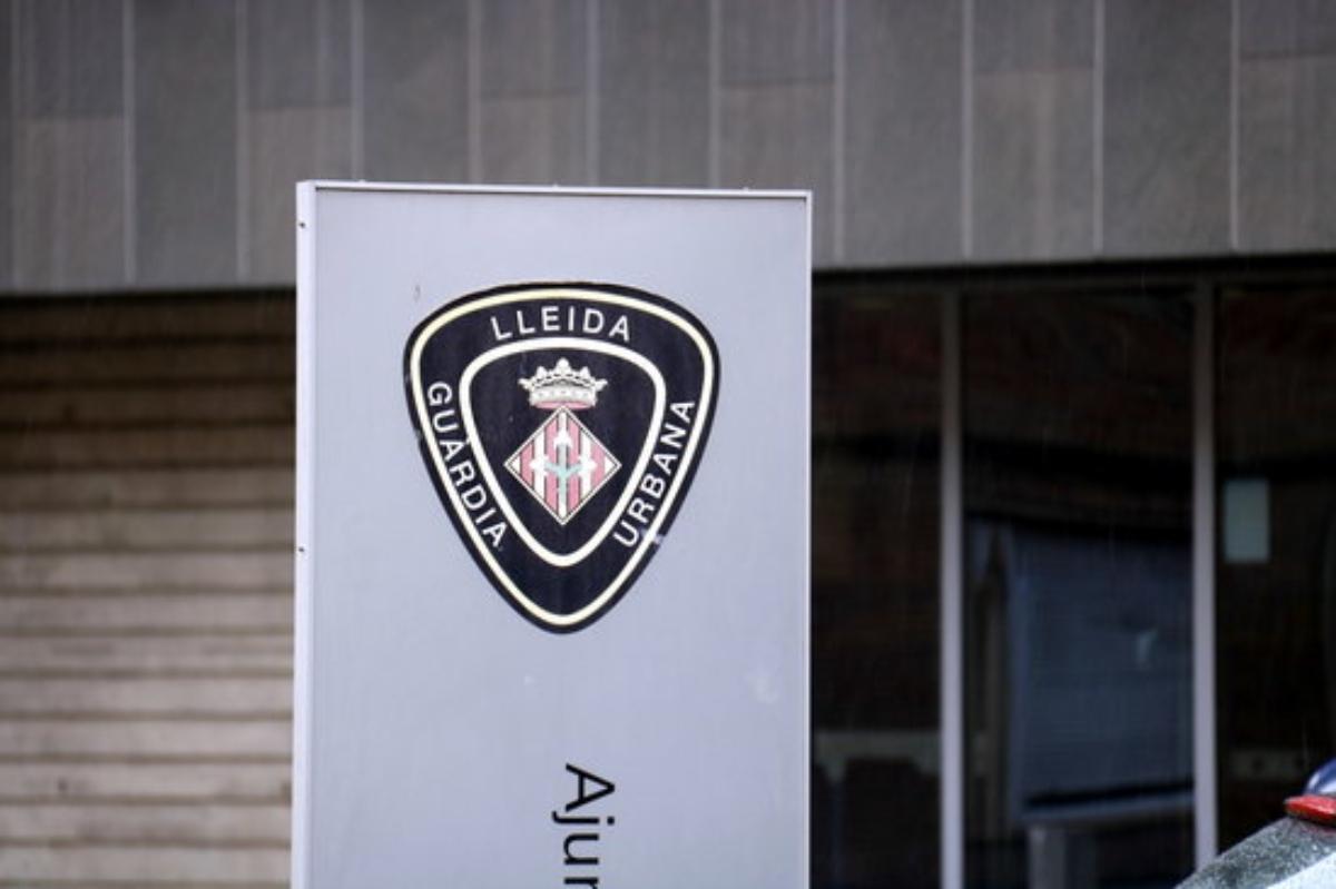 Imatge de la insígnia de la Guàrdia Urbana de Lleida.
